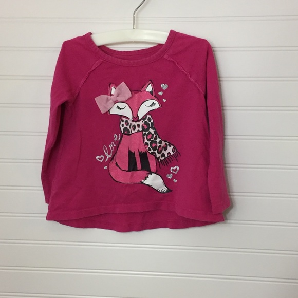 4T NWT The Childrens Place Eyelet Henley Top PInk Purple White 3T